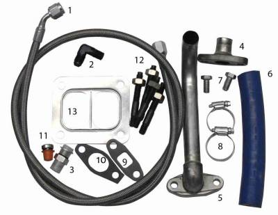 Turbos - Single Turbo - Fleece Performance - Fleece Performance Duramax Turbo Installation Kit FPE-TURBO-INST-KIT-DMAX