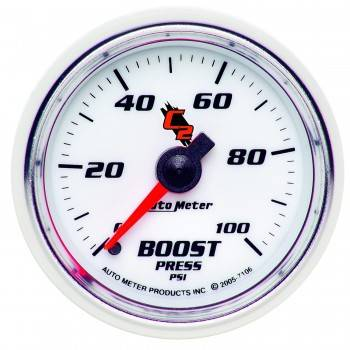 Gauges And Pods - Gauges - Auto Meter - Autometer C2 Boost Gauge 100psi