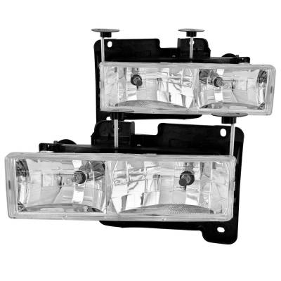 Lighting - Headlights - Anzo USA - Anzo USA Crystal Headlight Set 111004