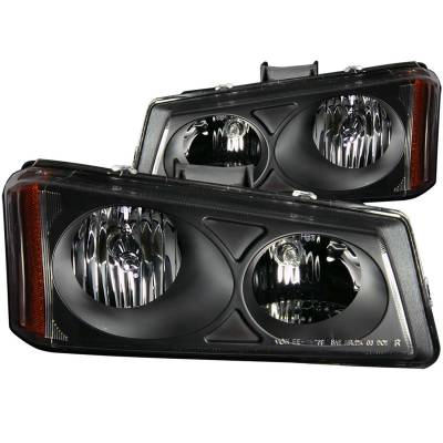 Lighting - Headlights - Anzo USA - Anzo USA Crystal Headlight Set 111009