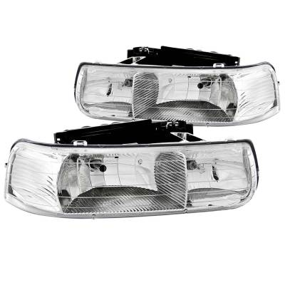 Lighting - Headlights - Anzo USA - Anzo USA Crystal Headlight Set 111011