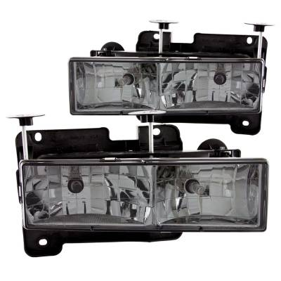 Lighting - Headlights - Anzo USA - Anzo USA Crystal Headlight Set 111061