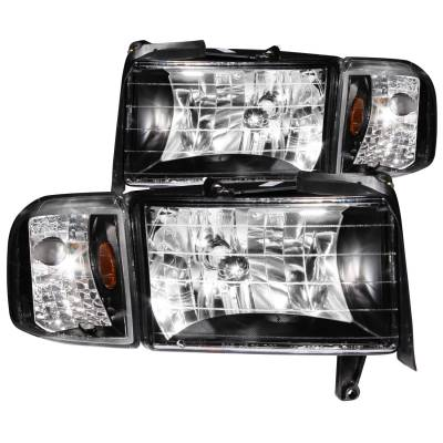 Anzo USA - Anzo USA Crystal Headlight Set 111067