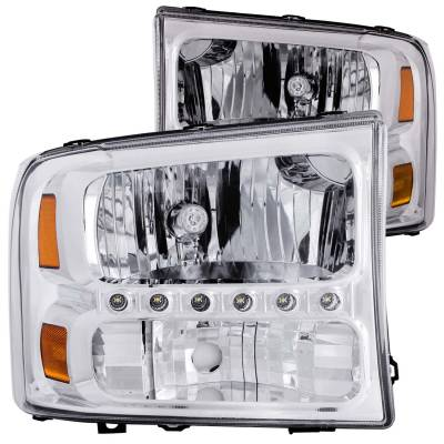Lighting - Headlights - Anzo USA - Anzo USA Crystal Headlight Set 111088