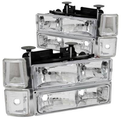 Lighting - Headlights - Anzo USA - Anzo USA Crystal Headlight Set 111099