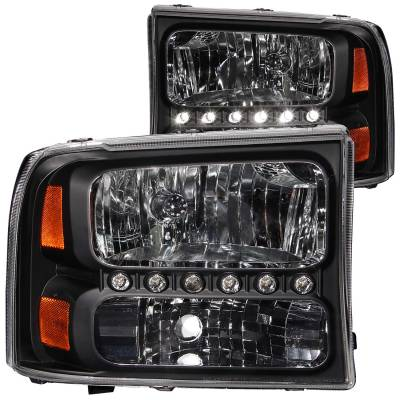 Lighting - Headlights - Anzo USA - Anzo USA Crystal Headlight Set 111106
