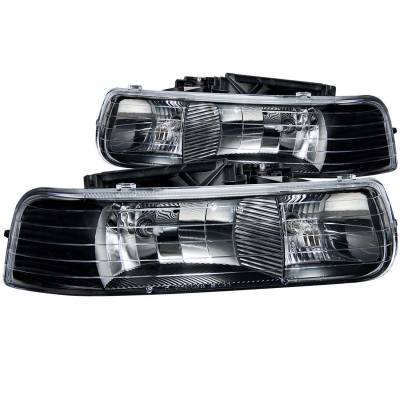 Lighting - Headlights - Anzo USA - Anzo USA Crystal Headlight Set 111155