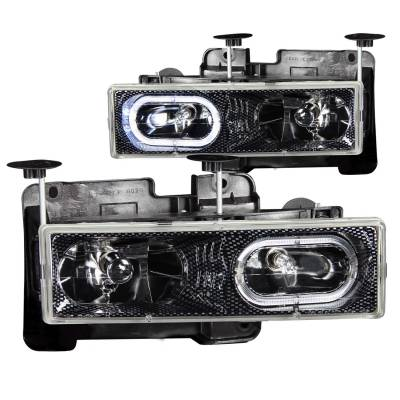 Lighting - Headlights - Anzo USA - Anzo USA Crystal Headlight Set; w/Halo 111005