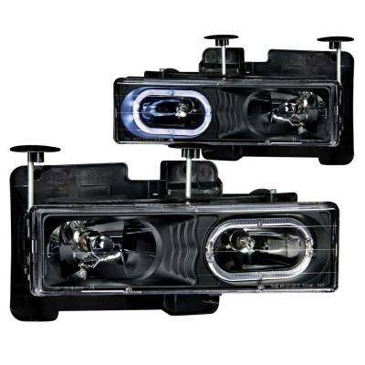Lighting - Headlights - Anzo USA - Anzo USA Crystal Headlight Set; w/Halo 111007