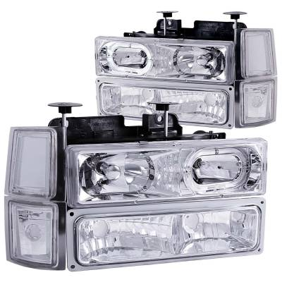 Lighting - Headlights - Anzo USA - Anzo USA Crystal Headlight Set; w/Halo 111101