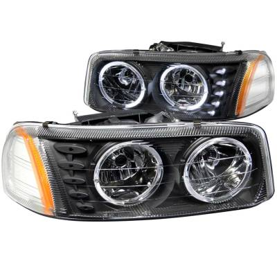 Lighting - Headlights - Anzo USA - Anzo USA Crystal Headlight Set; w/Halo 111207