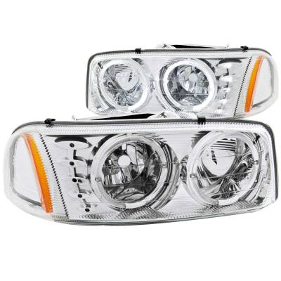 Lighting - Headlights - Anzo USA - Anzo USA Crystal Headlight Set; w/Halo 111208