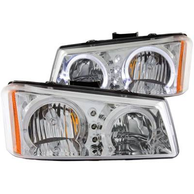 Lighting - Headlights - Anzo USA - Anzo USA Crystal Headlight Set; w/Halo 111211