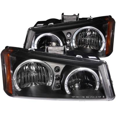 Lighting - Headlights - Anzo USA - Anzo USA Crystal Headlight Set; w/Halo 111212