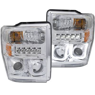 Lighting - Headlights - Anzo USA - Anzo USA Projector Headlight Set 111306