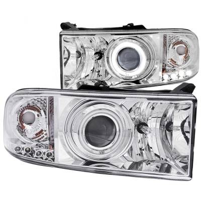 Anzo USA - Anzo USA Projector Headlight Set; w/Halo 111056