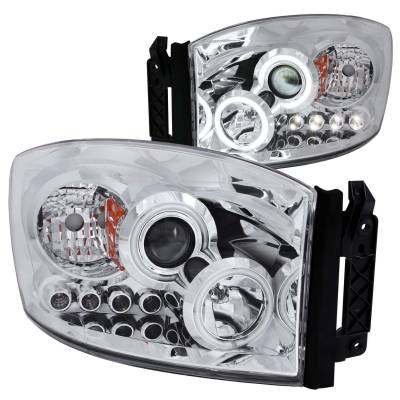 Anzo USA - Anzo USA Projector Headlight Set; w/Halo 111103