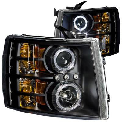 Anzo USA - Anzo USA Projector Headlight Set; w/Halo 111107