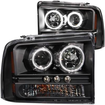 Lighting - Headlights - Anzo USA - Anzo USA Projector Headlight Set; w/Halo 111117