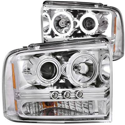 Lighting - Headlights - Anzo USA - Anzo USA Projector Headlight Set; w/Halo 111118