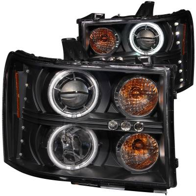 Lighting - Headlights - Anzo USA - Anzo USA Projector Headlight Set; w/Halo 111125