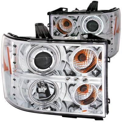 Lighting - Headlights - Anzo USA - Anzo USA Projector Headlight Set; w/Halo 111126