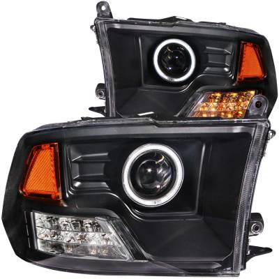 Anzo USA - Anzo USA Projector Headlight Set; w/Halo 111159