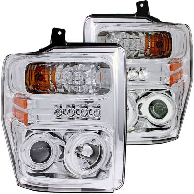 Lighting - Headlights - Anzo USA - Anzo USA Projector Headlight Set; w/Halo 111167