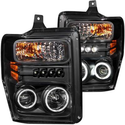 Lighting - Headlights - Anzo USA - Anzo USA Projector Headlight Set; w/Halo 111168