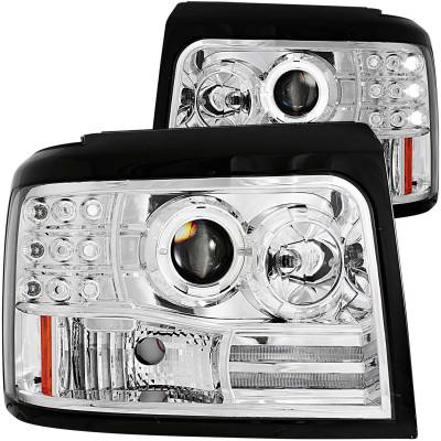 Lighting - Headlights - Anzo USA - Anzo USA Projector Headlight Set; w/Halo 111183