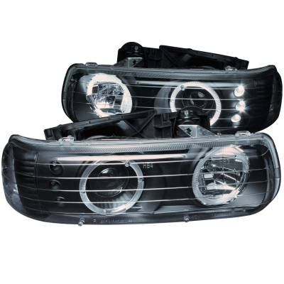 Lighting - Headlights - Anzo USA - Anzo USA Projector Headlight Set; w/Halo 111189