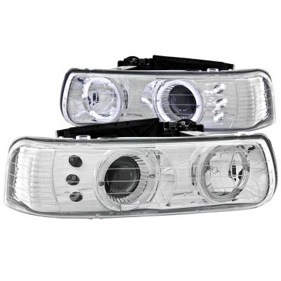 Lighting - Headlights - Anzo USA - Anzo USA Projector Headlight Set; w/Halo 111190