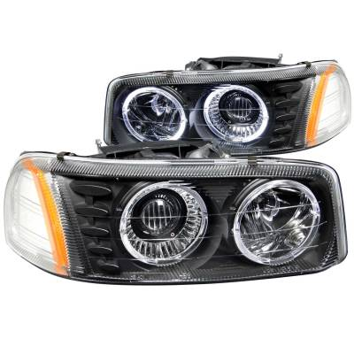 Lighting - Headlights - Anzo USA - Anzo USA Projector Headlight Set; w/Halo 111192