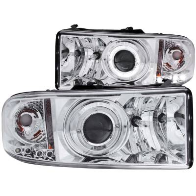 Anzo USA - Anzo USA Projector Headlight Set; w/Halo 111195