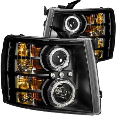 Anzo USA - Anzo USA Projector Headlight Set; w/Halo 111200