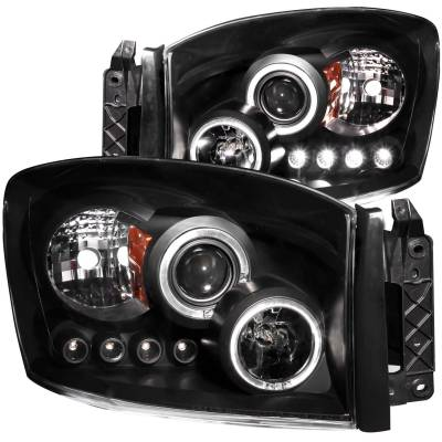Anzo USA - Anzo USA Projector Headlight Set; w/Halo 111209