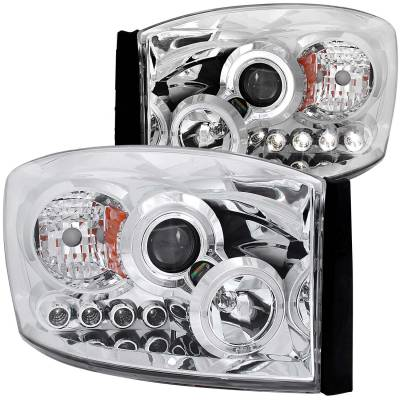 Anzo USA - Anzo USA Projector Headlight Set; w/Halo 111210