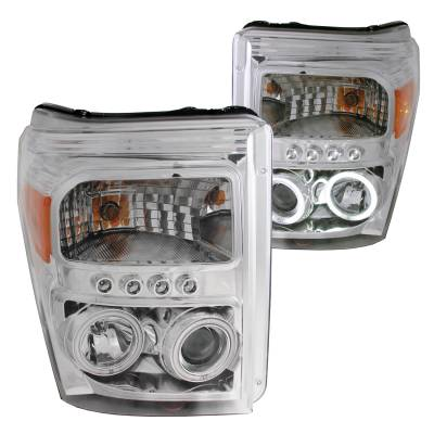 Lighting - Headlights - Anzo USA - Anzo USA Projector Headlight Set; w/Halo 111272