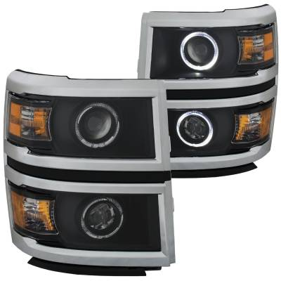 Lighting - Headlights - Anzo USA - Anzo USA Projector Headlight Set; w/Halo 111345