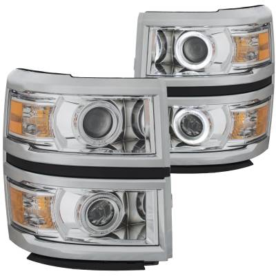 Lighting - Headlights - Anzo USA - Anzo USA Projector Headlight Set; w/Halo 111346