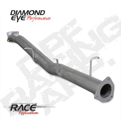 Exhaust Systems And Components - BD Diesel - BD Diesel DPF-RACE 4in Intermed Pipe No-Bung Alum Chevy 07.5-10 6.6L 2500/3500 Crew/LngBx DIA-324107
