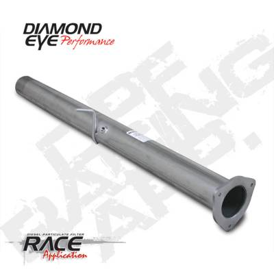 Dodge/Cummins - Exhaust Systems And Components - BD Diesel - BD Diesel DPF-RACE 4in Intermediate Pipe W/Bung Alumin - Dodge 2007.5-2010 6.7L 2500/3500 DIA-221022