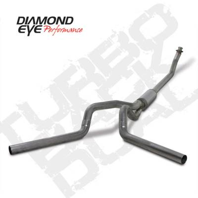 Exhaust Systems And Components - Exhaust Systems - BD Diesel - BD Diesel Exhaust Kit 4in Turbo-Back Dual 409 Stainless - Dodge 1994-2002 5.9L 2500/3500 DIA-K4214S