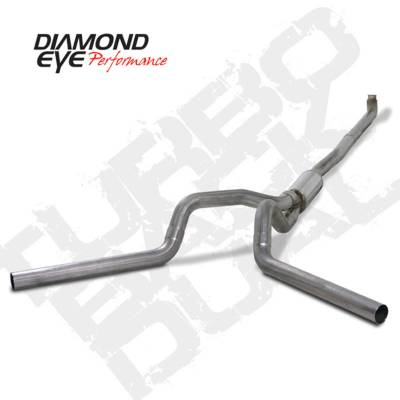 Exhaust Systems And Components - Exhaust Systems - BD Diesel - BD Diesel Exhaust Kit 4in Turbo-Back Dual 409 Stainless Chevy 2001-07.5 Duramax 2500/3500 DIA-K4116S