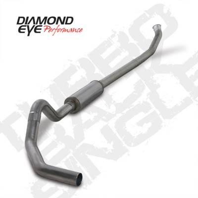 Exhaust Systems And Components - Exhaust Systems - BD Diesel - BD Diesel Exhaust Kit 4in Turbo-Back Off-Rd Single 409 S/S - Dodge 2004.5-12 2500/3500 DIA-K4235S