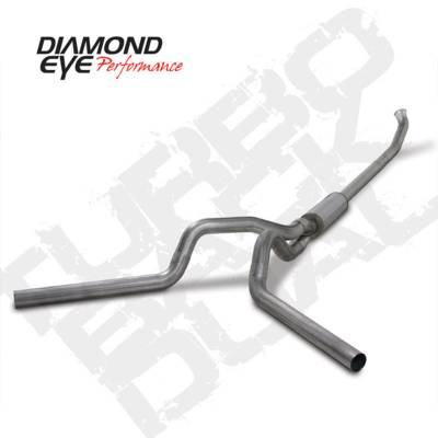 Exhaust Systems And Components - Exhaust Systems - BD Diesel - BD Diesel Exhaust Kit 4in Turbo-Back Off-Road Dual 409 SS Dodge 2004.5-2007 5.9L 2500/3500 DIA-K4237S