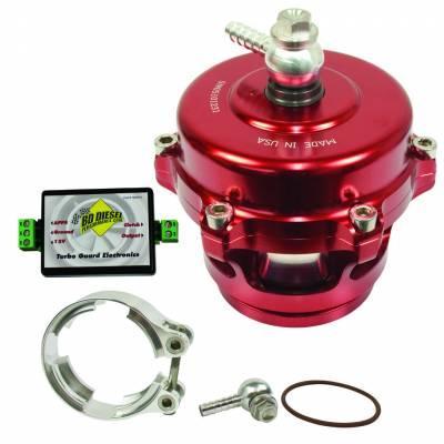 Turbos - Turbo Parts And Accessories - BD Diesel - BD Diesel Turbo Guard Kit - Aluminum Adapter / Red Valve 1047250AR