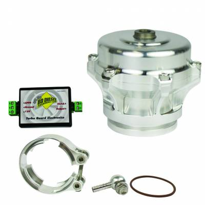 Turbos - Turbo Parts And Accessories - BD Diesel - BD Diesel Turbo Guard Kit - Aluminum Adapter / Silver Valve 1047250AS
