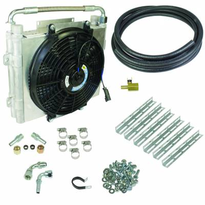 BD Diesel Xtrude Double Stacked Transmission Cooler Kit - Universial 1/2in Tubing 1030606-DS-12