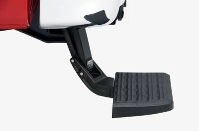 Ford/Powerstroke - AMP Research 75313-01A BedStep Flip Down Bumper Step for 2017-2019 Ford F-250/350/450 (F450 will not work with the vibration dampner installed)